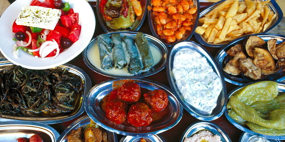 Traditional Greek dishes