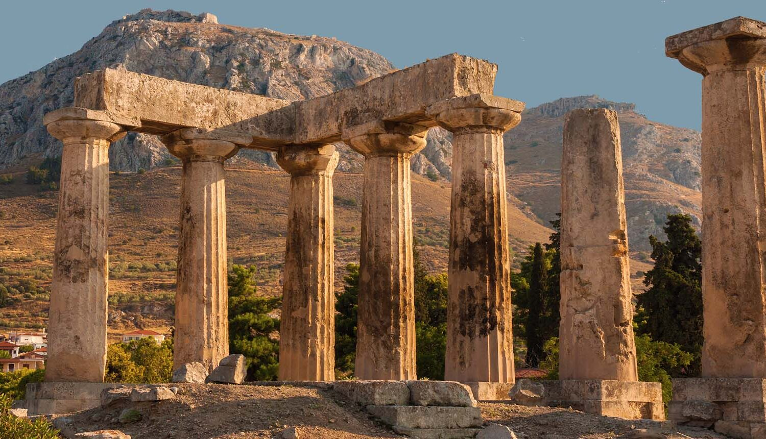 Temple of Apollo- Ancient Corinth & Acrocorinth