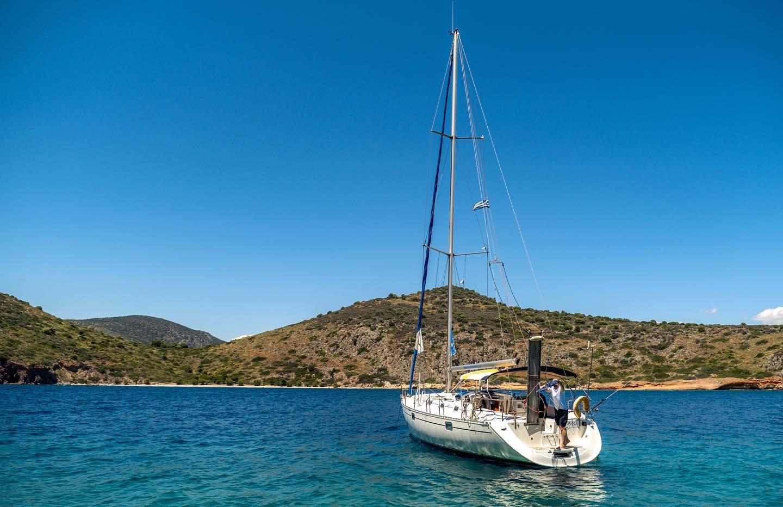 Tolo sailing Greek sea