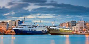 Piraeus Port and ships